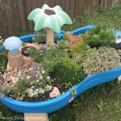 Fairy Garden For Kids Upcycled Water Table Container Garden Twitchetts