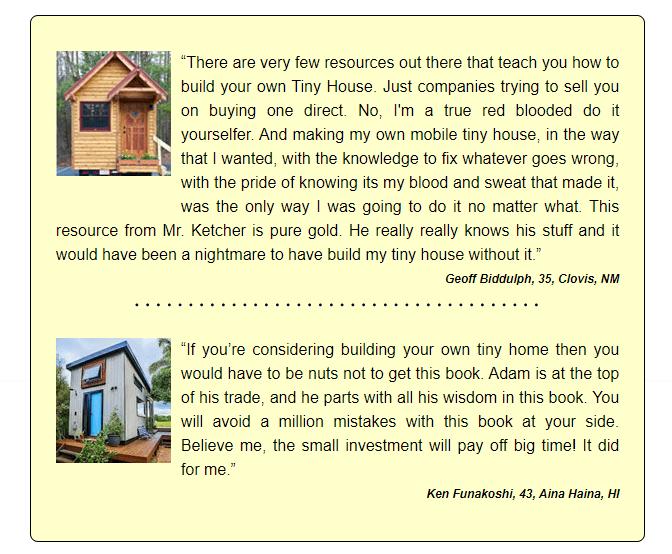 Tiny House Made Easy customer reviews