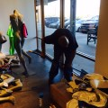 Asics Retail Sport Store in Allen, Texas Outlet Shopping Center Touch Up Post construction Cleaning Service