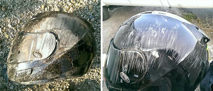 I Keep Looking At This And Just.. Get A Bit Speechless Knowing How Much My Helmet Saved Me. Always Wear Your Gear