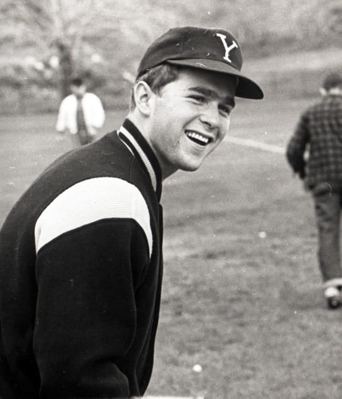 George W. Bush In Baseball Garb At Yale University, Ca, 1964-68