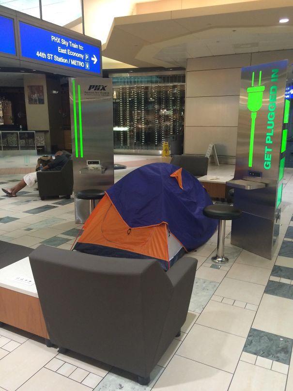 Пребывание в аэропорту в одночасье, вы делаете это правильно