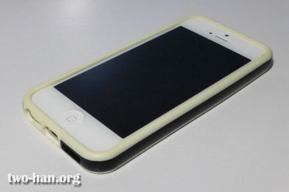 Soft TPU Bumper for Apple iPhone 5 / Black/White Frame