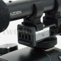 DMC-GH3とAZDEN・SMX-10。マイクホルダーのサスペンション。2枚の板をゴム状のサスペンションで挟んでます!(^^)v