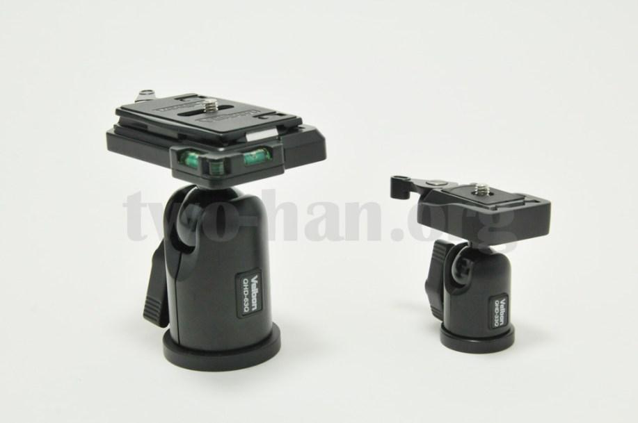 Velbon 自由雲台 クイックシュー装備 QHD-63QとQHD-33Q-2