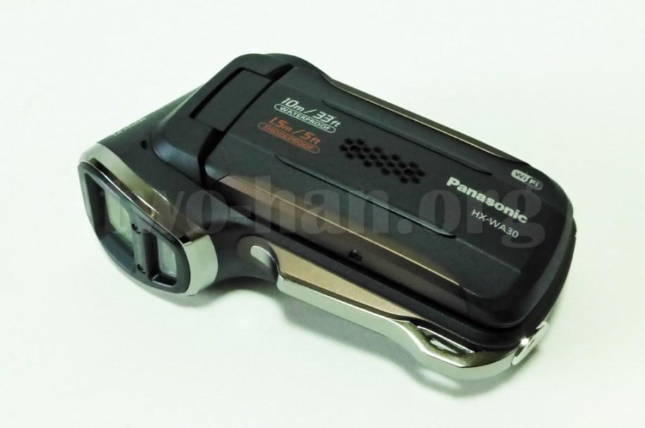 Panasonic HX-WA30・縦型なので、普通に置くとこんな感じ...。(^_^;)