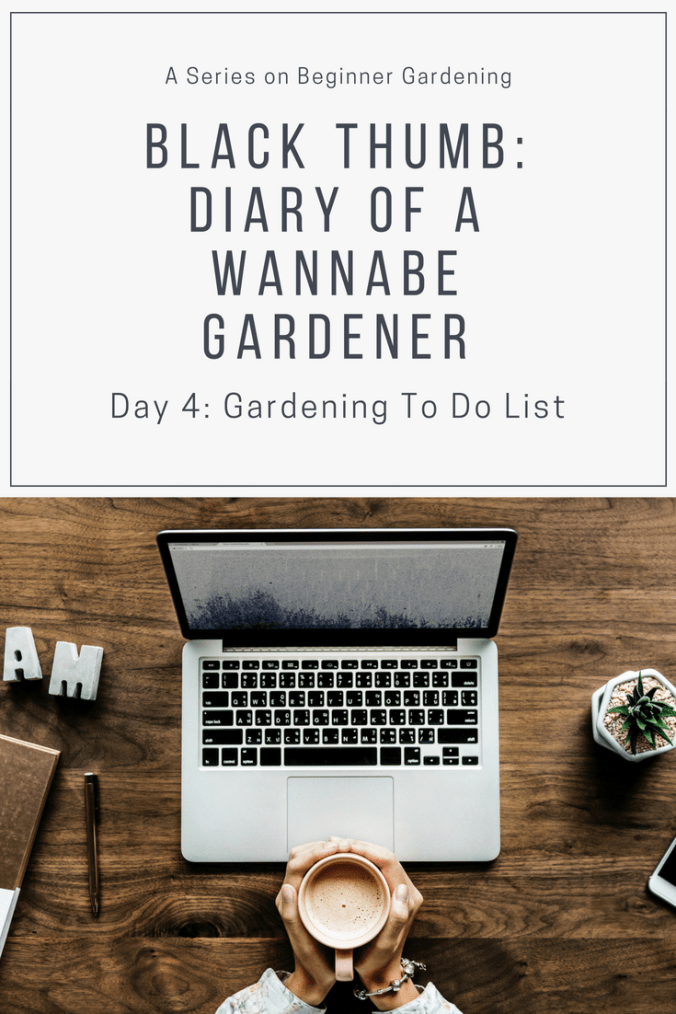 Gardening To Do LIst