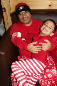 Maximus and his pops on Christmas Day.
