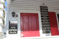 """As we began our walk along Duval St., the V.I.P. Gentlemen's Club """"popped up"""" (no pun intended) at the beginning. The female is out of frame to the right."""