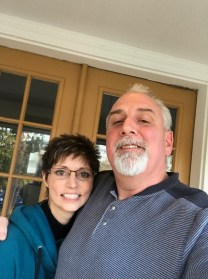 Cousin Dave and Kim, aren't they just the cutest couple?!?!?!?! Happy to see Dave could not evade the gray-hair-demon either...