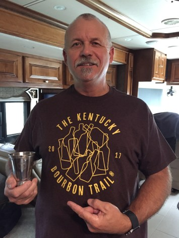 You get a shirt for the Kentucky Bourbon Trail, then a Mint Julep cup for the Craft Tour. All that for trying to become a lifetime member of AA!