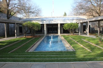 "The entrance to the Carter Presidential ""Center""."