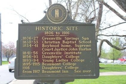 A chronology for the Beaumont Inn.