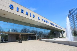 President Ford's Presidential Library is the only one of the current 13 that is literally split in 2. The Presidential Archives are in Ann Arbor, whereas the Museum is here in Grand Rapids.
