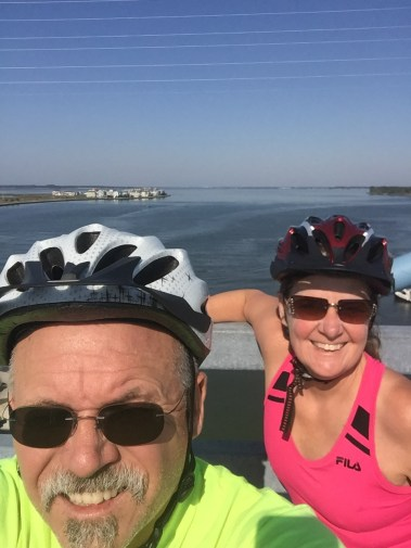 OK, gotta do a yuppie selfie while on our bike ride to Ocean City.