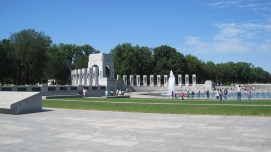 Some of the World War II Memorial.