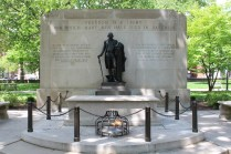 In Washington Square, this is the memorial to the thousands of unknown soldiers of Washington's army who are buried here.
