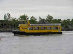 The Liberty Harbor Ferry that leaves from Warren St. and takes you to the World Financial Center.