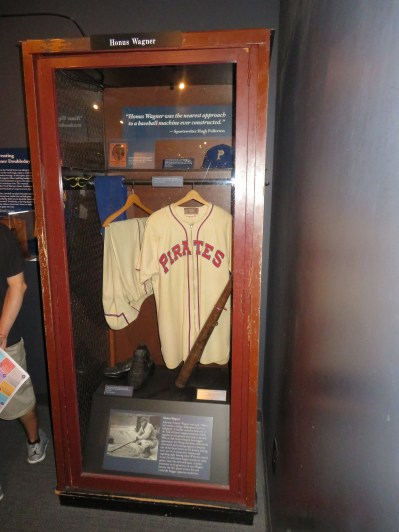 Here's a display of a typical locker used by some guy named Honus Wagner. Might have been pretty good in his day or so I hear...(That would be HEAVY on the sarcasm folks!)