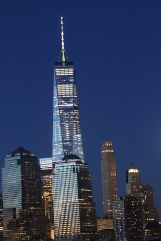 Freedom Tower by dusk.