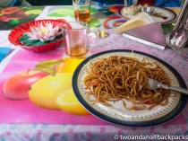 delicious noodles and wonderful placemats