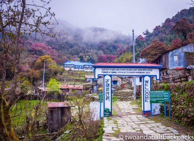 the entrance to Ghorepani