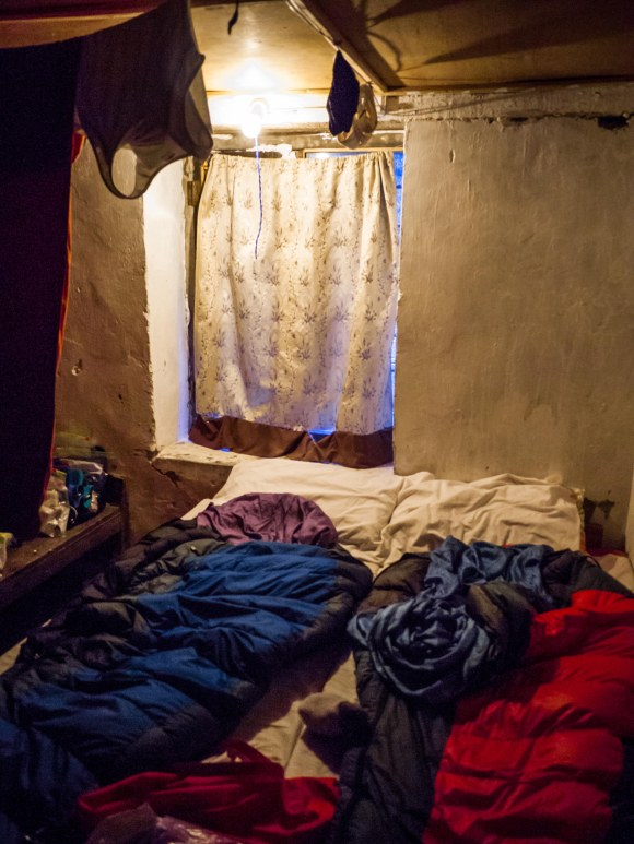 One of the guesthouses we stayed in--It's hard to capture the layers of dirt and sweat in a photograph