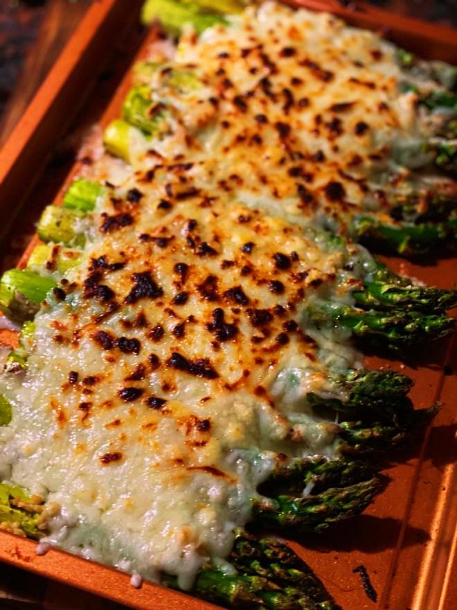 Cheesy Gruyere and Swiss Asparagus