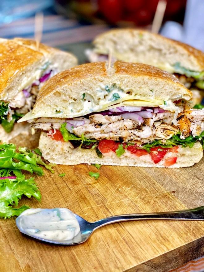 Roasted Chicken Sandwich + Basil Mayo