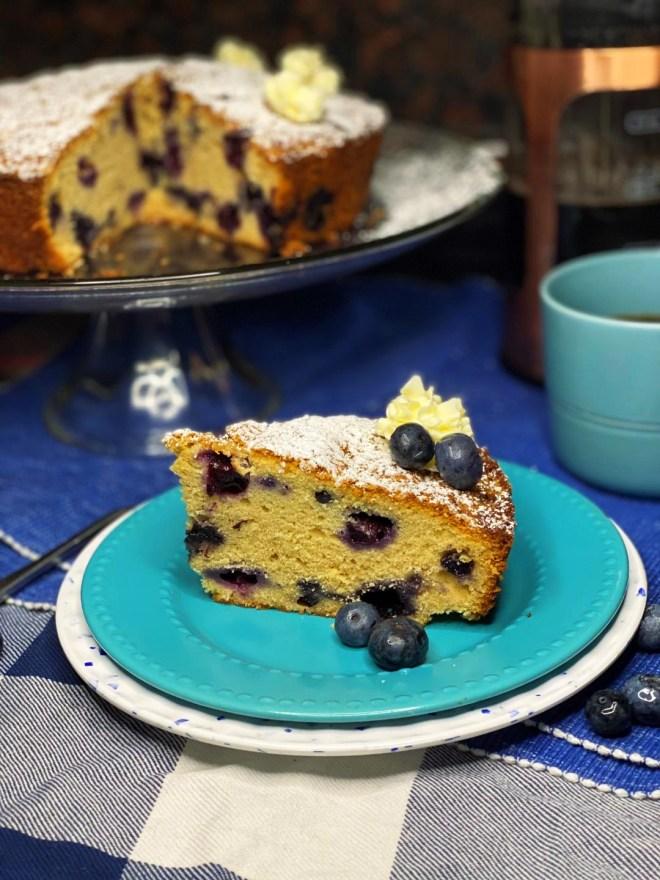 Single Layer Brown Sugar Blueberry Cake