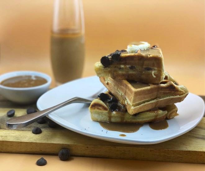 Buttermilk Waffles & Coffee-Milk Syrup