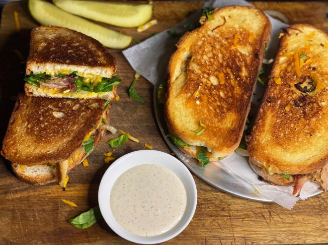 Smoked Pork Panini Sandwich