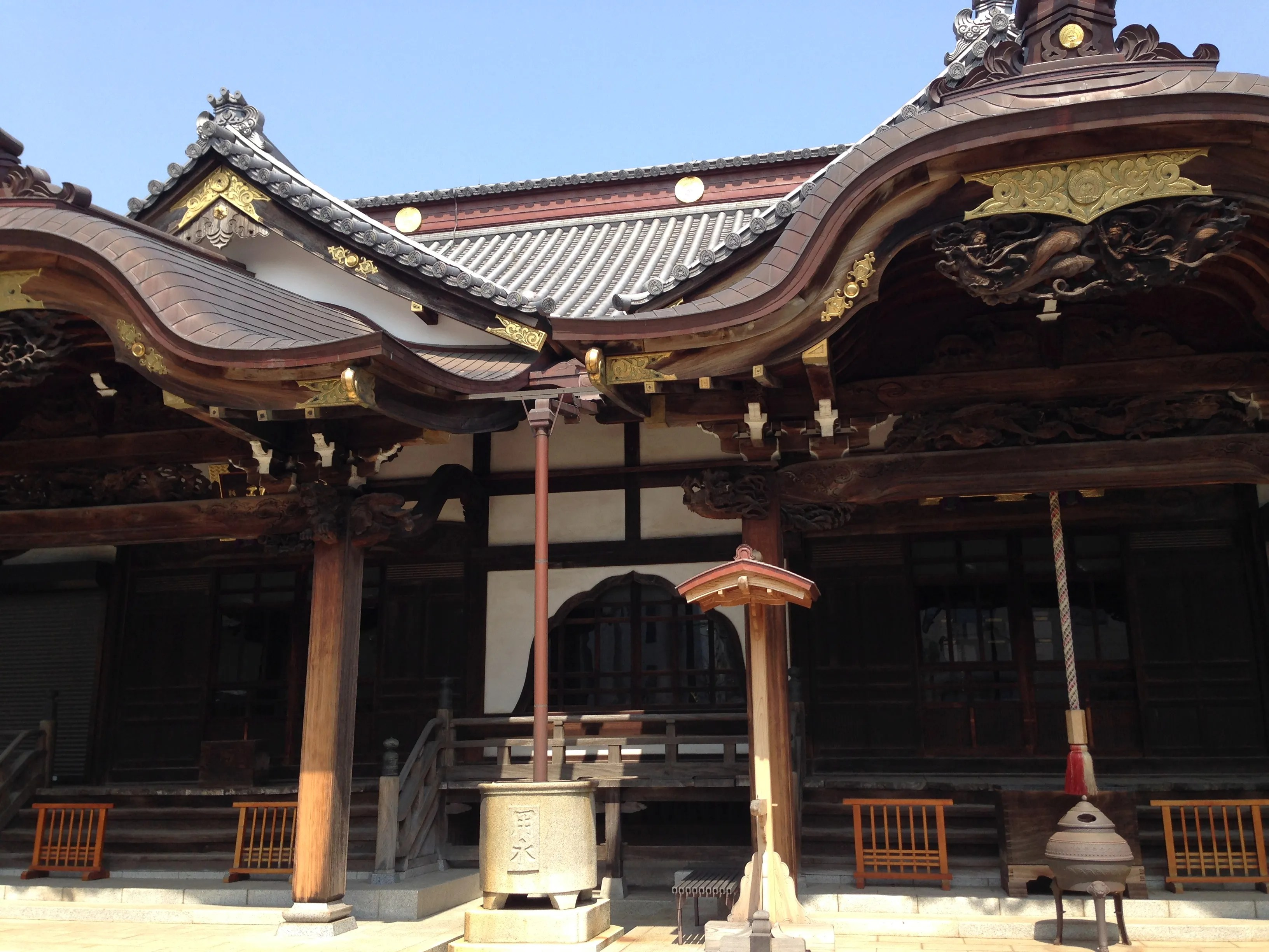 A temple and a shrine side by side