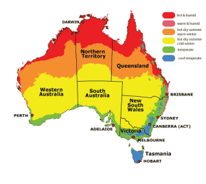 Australian regions and climate zones