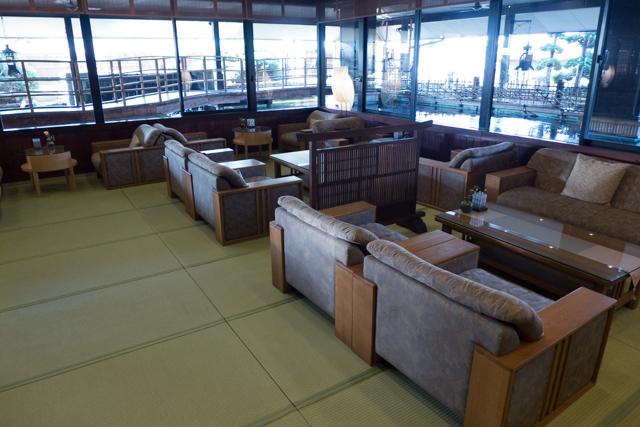 Ryokan lounge area