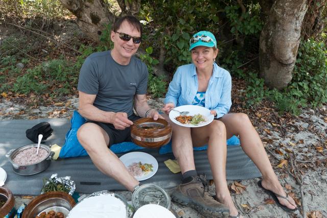 A picnic by the Paro Chhu river.