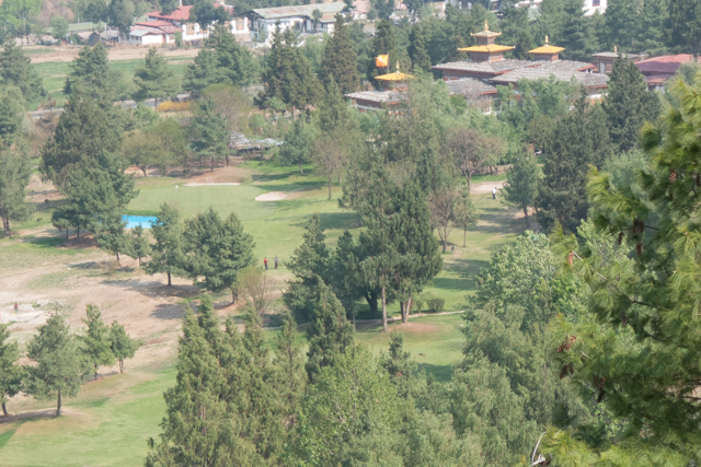 The only golf course in Bhutan - 9 holes.
