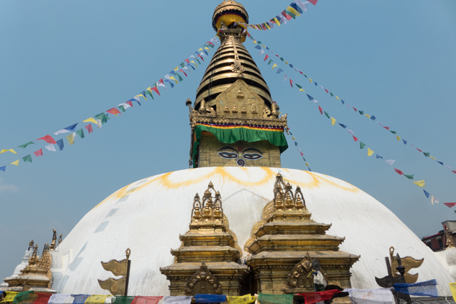 The Swayambhunath Stupa.