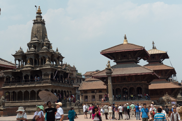 Patan Durbar Square is  a four or five square block area situated at the centre of Lalitpur city. It is one of the three Durbar Squares in the Kathmandu Valley, all of which are UNESCO World Heritage Sites.