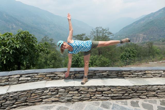 Annapurna yoga class.
