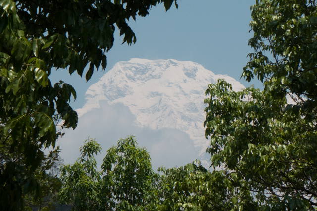 Our first view of Annapurna South.