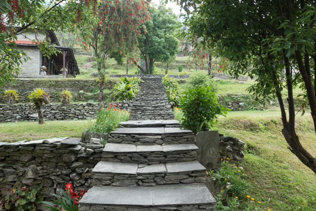 Another view of landscaping from the Garung Lodge.