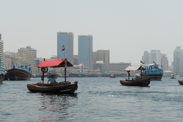 A view from our water taxi. Many people commute to work on these taxis every day.
