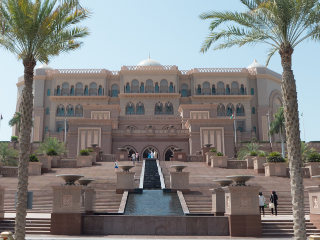 At $6 billiion USD, the Emirates Palace hotel in Abu Dhabi is the second most expensive hotel ever built, only surpassed by Marina Bay Sands in Singapore.  Completed in 2005, it contains about 850,000m² of floor space. Underground parking allows housing for 2,500 vehicles.