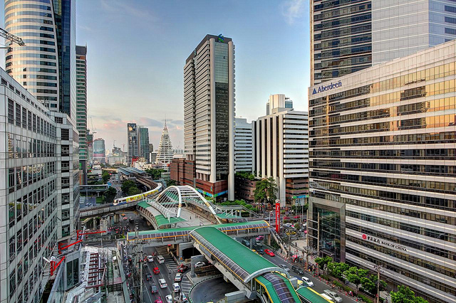 Some parts reminded us of Hong Kong with the modern air-conditioned pedestrian walkways and monorails.