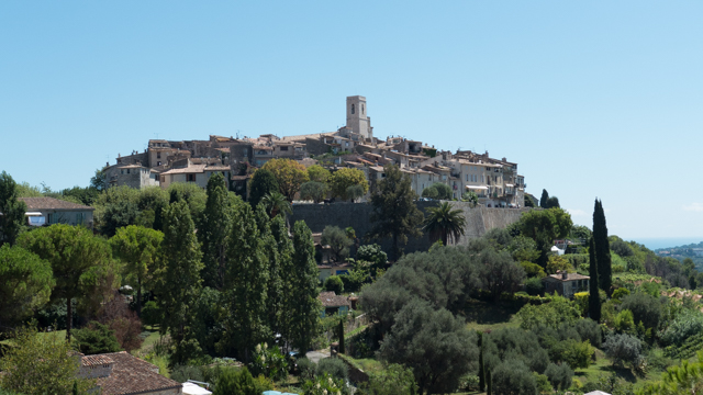 Saint-Paul-de-Vence  is a commune in near Nice.   One of the oldest medieval towns on the French Riviera, it is well known for its modern and contemporary art museums and galleries.