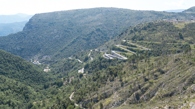 We traveled over the Col de Braus along this road.