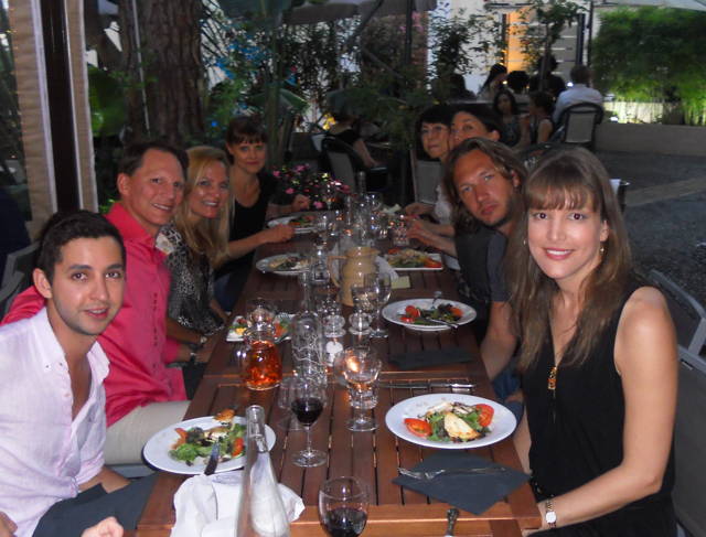 School outing - dinner in Villefranche