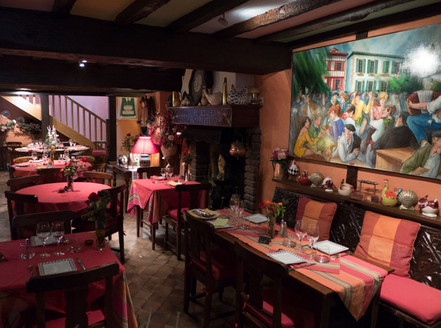 The inside of the restaurant - cozy and warm.