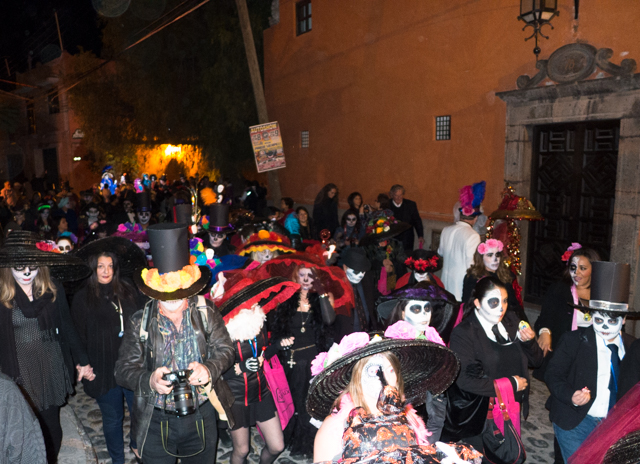The Day of the Dead parade.
